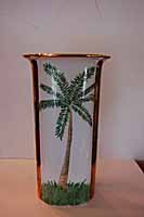 Banana 22-inch Silk Palm Tree with Black Vase | Overstock.com